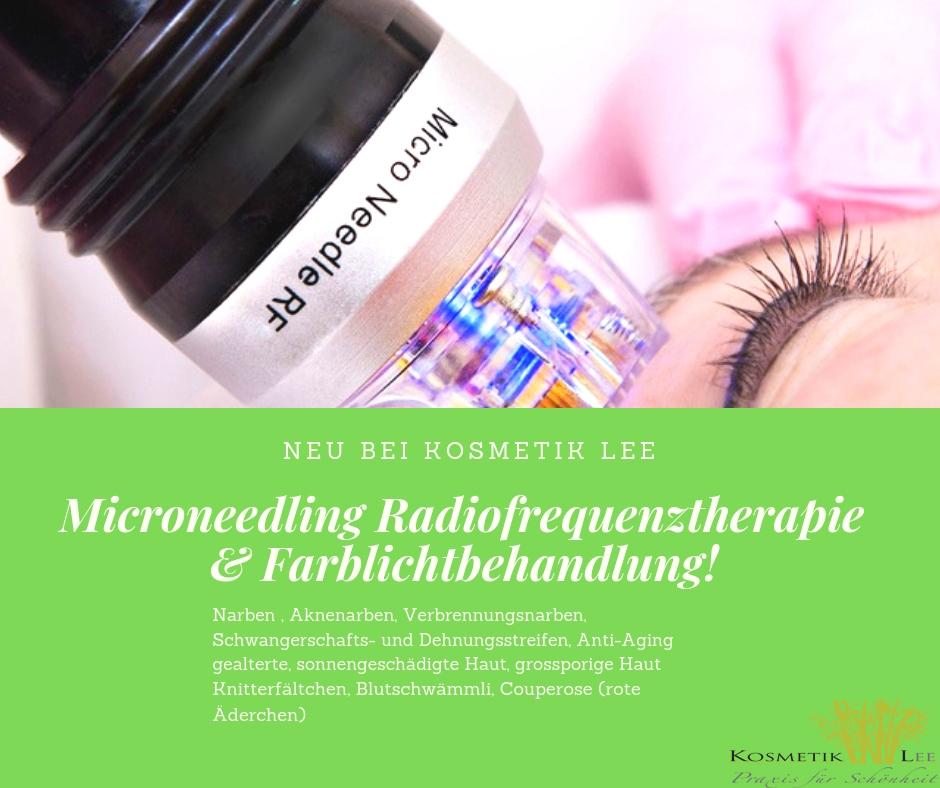 RF Microneedlung mit Farblichttherapie
